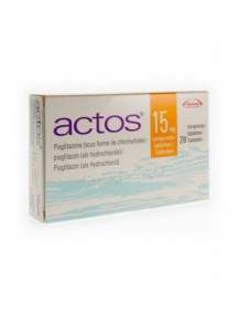 Generic Actos (Pioglitazone)-15mg (30 Pills)